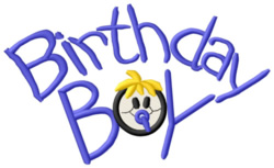 Birthday Boy embroidery design