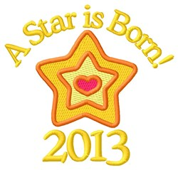 2013 Star embroidery design
