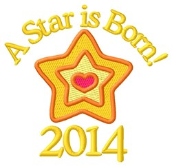 2014 Star embroidery design