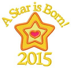 2015 Star embroidery design