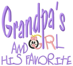 Favorite Grandchild embroidery design