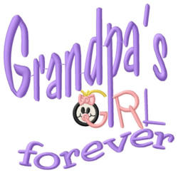 Grandpas Girl Forever embroidery design