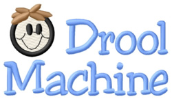 Drool Machine embroidery design