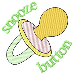 Snooze Button embroidery design