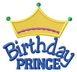 Birthday Prince embroidery design