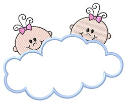 Girl Twins embroidery design