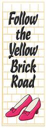 Oz Bookmark embroidery design