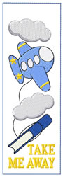 Airplane Bookmark embroidery design