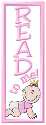 Baby Girl Bookmark embroidery design