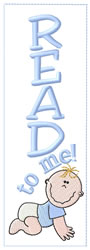 Baby Boy Bookmark embroidery design