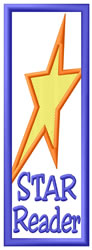 Star Reader Bookmark embroidery design
