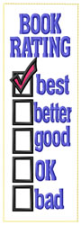 Rating Bookmark embroidery design