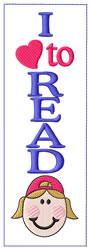 Girl  Bookmark embroidery design