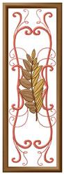 Leaf Bookmark embroidery design