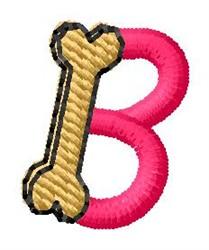 Bone Letter B embroidery design