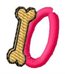Bone Letter O embroidery design