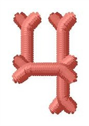 Bone Number 4 embroidery design