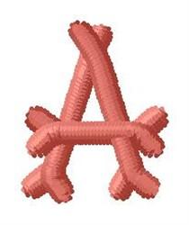 Bone Letter A embroidery design