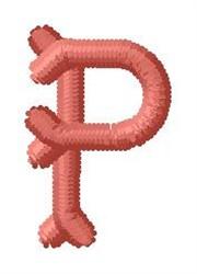 Bone Letter P embroidery design