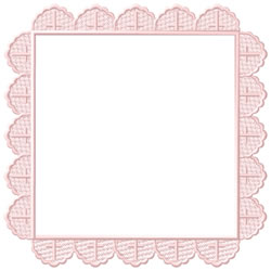 Baptismal Hanky Border embroidery design