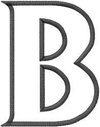 Toga Outline Beta embroidery design