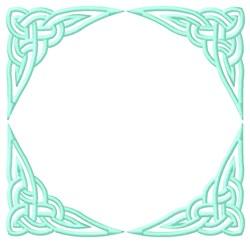 Celtic Square Outline embroidery design