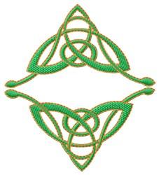 Trifoil Diamond embroidery design