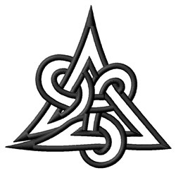 Trinity Knot Outline embroidery design