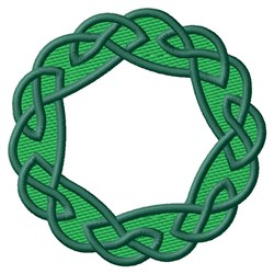 Knot Wreath embroidery design