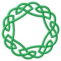 Knotwork Wreath embroidery design