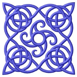 Swirl Knot Work embroidery design