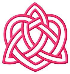 Trinity Heart Outline embroidery design