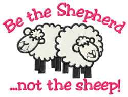 Be the Shepherd embroidery design