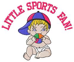 Little Sports Fan! embroidery design