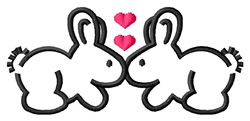Kissing Bunnies embroidery design