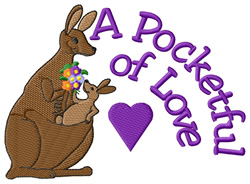 A Pocketful of Love embroidery design