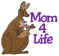 Mom 4 Life embroidery design