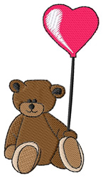 Teddy with Balloon embroidery design