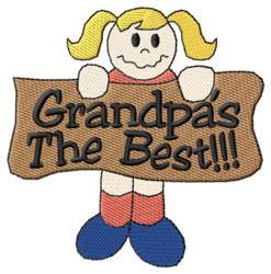 Grandpas the Best embroidery design
