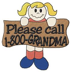 1-800-Grandma embroidery design