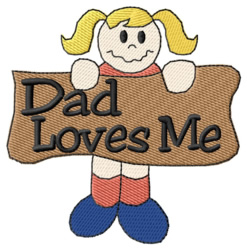 Dad Loves Me embroidery design