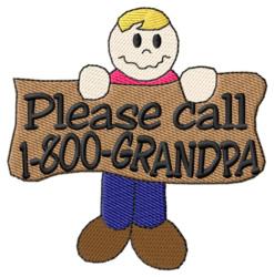 1-800-Grandpa embroidery design