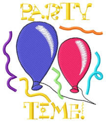 Party Time! embroidery design
