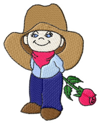 Cowpoke embroidery design