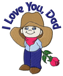 I Love You, Dad embroidery design