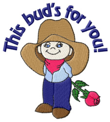 This Buds For You embroidery design