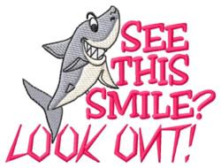 Shark Smile embroidery design