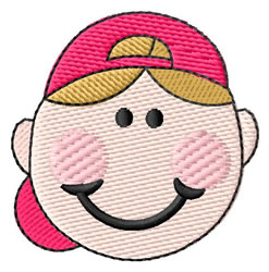 Boy With Baseball Cap embroidery design