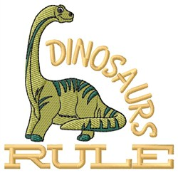 Dinosaurs Rule embroidery design