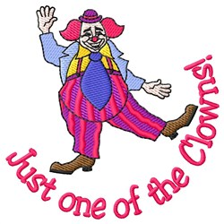 One Of The Clowns embroidery design